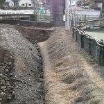 クラピアの水路が埋め立て
