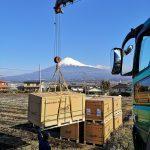 茶畑の営農型太陽光 -パネル到着-